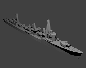 3D printable model Japanese Akatsuki Class Destroyer