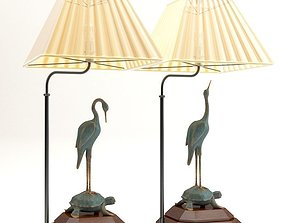 3D model Chinese table lamps