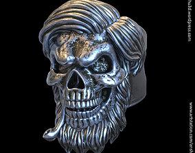 Skull bearded vol5 ring jewelry 3D printable model