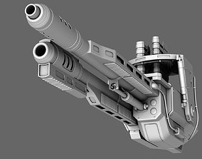 3D model Sci-Fi Chain Gun Turret