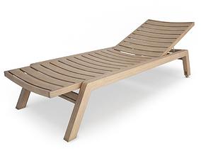 3D Costes Wooden Deck Chair