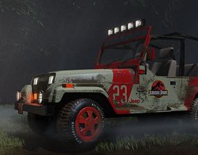 3D Jeep Wrangler Jurassic Park