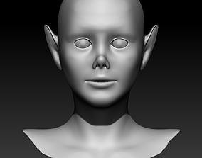Woman head 3 3D model