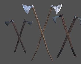 3D asset Viking Axe Kit