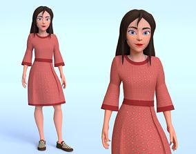 Cartoon Women 1 3D asset