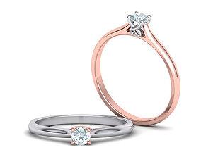 117 Engagement ring Heart design head 3D printable model