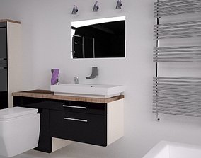 Bathroom Interior 3D model cubicle