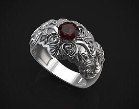 Floral Ring beautiful 3D printable model