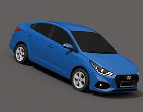 Hyundai Accent Solaris 2018 3D asset