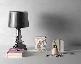Bourgie Lamp Book and Drawing Accessories 3D model