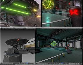 3D asset Space Station Scene