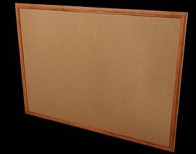 Corkboard - CLA - PBR Game Ready 3D asset