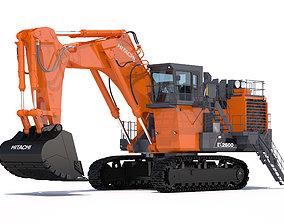 vehicle 3D Excavator Hitachi EX2600-7