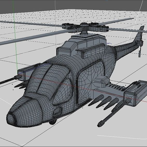 Military Attack Helicopter 3d Model