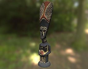 African tribe totem - statue low poly 3D model realtime