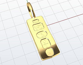Egypt Bar Pendant 3D printable model