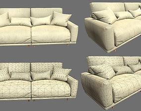 HQ Modern Sofa Set 3D model