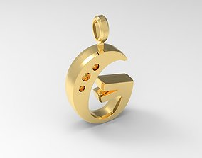 G Letter Pendant Gold 3D print model
