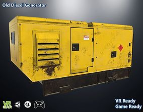 Old Diesel Generator Low Poly 3D asset