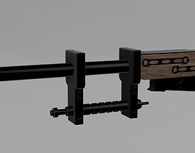 Zuckuss GRS-1 Snare Rifle STL File 3D print model