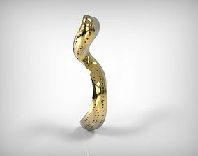 3D printable model Jewelry Golden Wavy Pendant