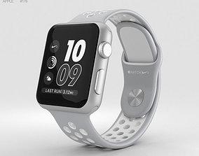 3D model Apple Watch Nike 38mm Silver Aluminum Case Flat 1