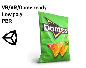 Doritos Taco Pepper Flavoured Corn Chips 90 3D asset
