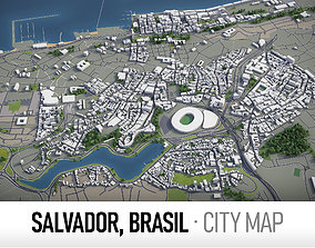 Salvador - city and surroundings 3D model