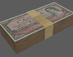 3D asset Money Stack 1000s
