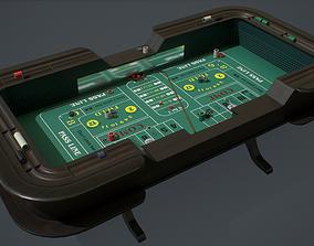 Craps Table PBR 3D asset