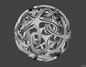 3D printable model Decorational Interlinked Space Stars on