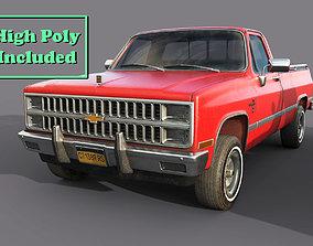 Chevrolet C10 1982 Red 3D model