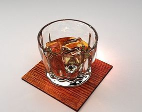 3D Whiskey on the Rocks