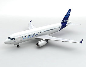 Airbus A319 Airliner 3D asset