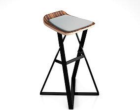 Trestle Bar stool by 2point54 3D model