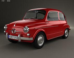 3D Fiat 600 D 1960