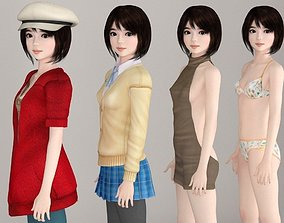 3D Chiharu various outfit pose 01