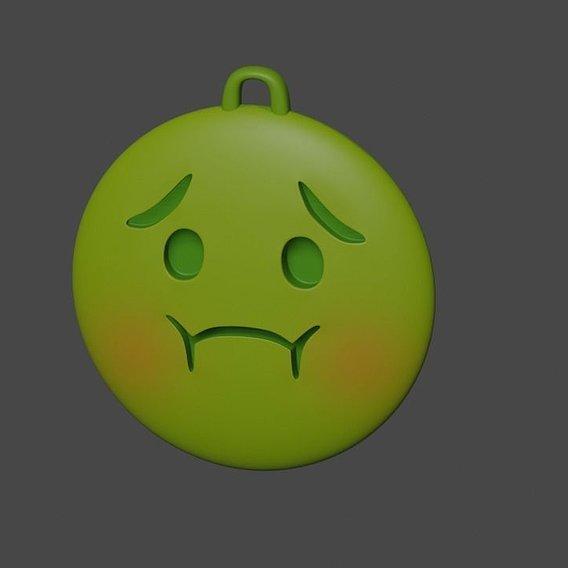 coronavirus emoji keychain
