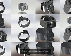 Set of Past future rings 3D