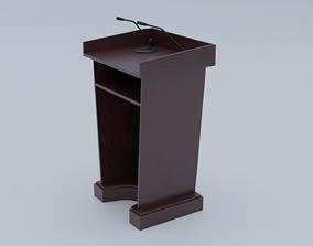 Wood Pulpit 3D asset