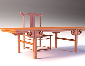 Low Poly Chinese Table 3D