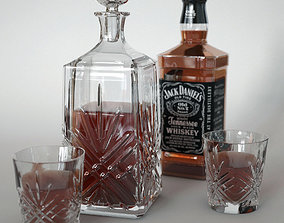 3D model Whiskey with decanter