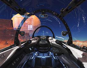 Spaceship Cockpit v4 3D model