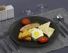 Fried eggs 0003 3D model