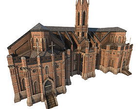 Library Church 01 3D asset