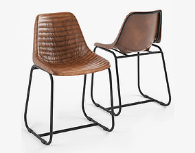 Roadhouse Dining Chair Ribbed 3D model