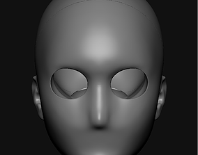 BJD head for sculpting 3D print model