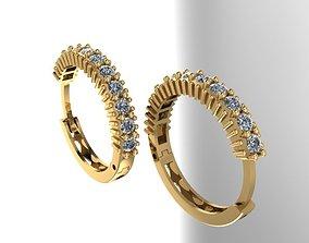 Hoop earrings 3D printable model