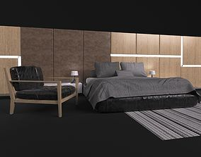 Comfortable bed in a modern style MisuraEmme 3D
