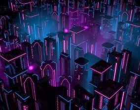 3D asset Neon Buildings